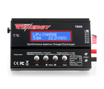 Tenergy's Multifunctional TB6B Pack Balance Charger
