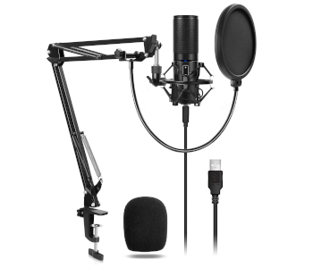 Affordable USB Podcast Microphone Kit by TONOR