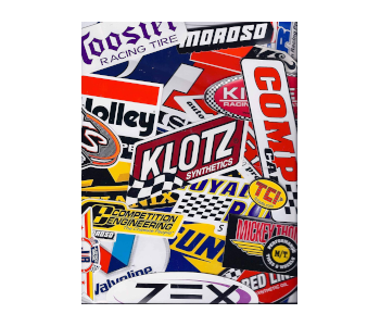 Assorted 25 Piece Racing Decal Sticker Pack