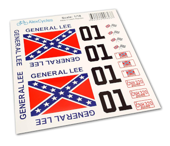 General Lee Scale Duke of Hazzard Decals