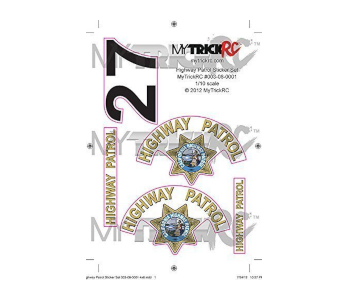 Genuine MyTrickRC 1/10 Scale Full Sticker Set