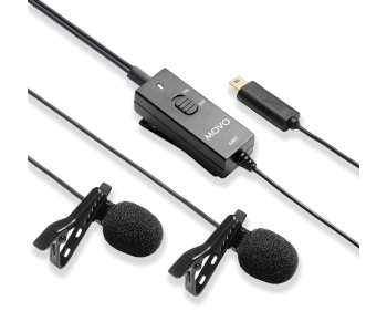 Movo GM100 Lavalier Clip-on Mic for GoPro