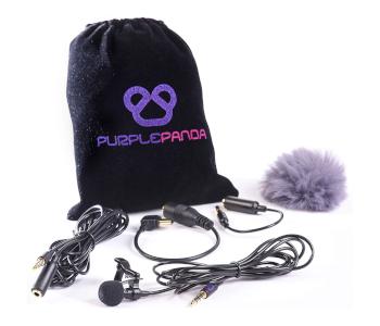 Purple Panda Lavalier Lapel Mic Kit for GoPro