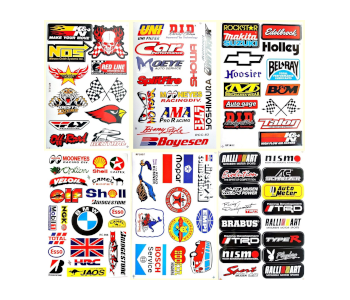 RC Auto Truck Sponsor ATV Drag Racing Decals