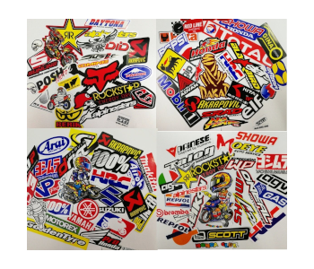 Random Motorcycle Car Racing Decal Set