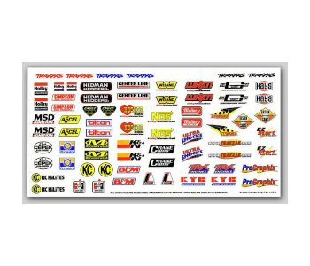 Traxxas Racing Sponsors Complete Decal Sheet