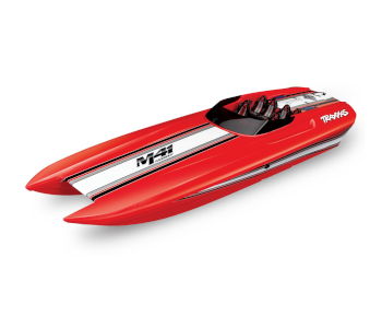 Traxxas Red DCB M41 Brushless Catamaran