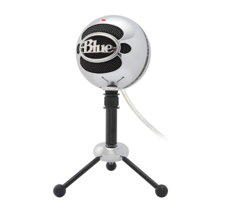 Blue Snowball Brushed Aluminum USB Mic