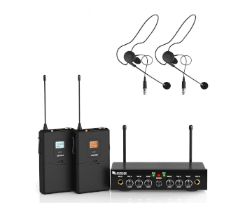 Fifine K038 UHF Dual Channel WiFi Lavalier Mic