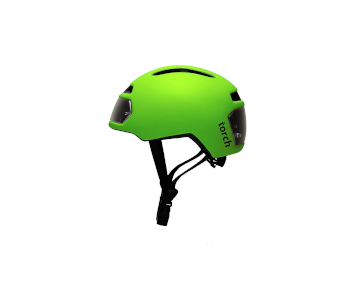 TORCH APPAREL T2 HELMET WITH FRONT AND REAR LED LIGHTS
