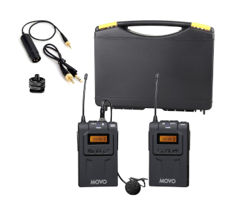 Movo Wireless 48CH UHF Lavalier Mic System