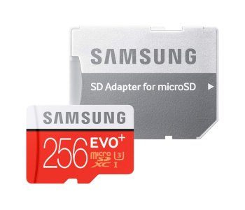 SAMSUNG EVO+ PLUS 256GB MICROSD CARD