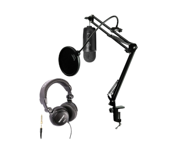 Blue Yeti Blackout USB Mic Podcaster Kit