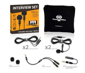 PowerDeWise 2 Lav Mic Set for DLSRs