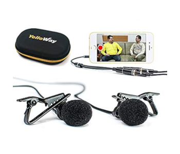 YelloWay Dual Lavalier Interview Microphone Set