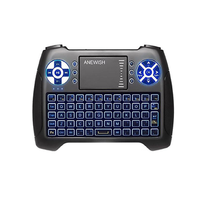 Anewish 2.4 GHz Mini Wireless Keyboard with Touchpad and Mouse Combo