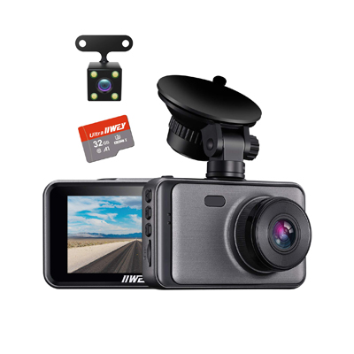 IIWey Front and Rear Dash Cameras for Cars