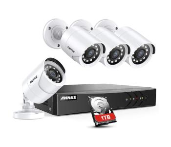 ANNKE H.264+ Camera System W/ Wired DVR