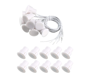 Uxcell 10pcs Wired Security Door Contact Sensors