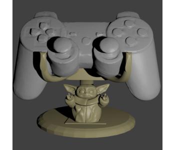 Baby Yoda DualShock 4 cradle