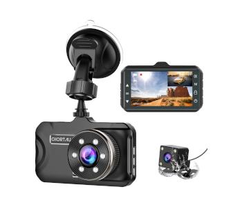 CHORTAU Dual 3-Inch Dashboard Camera