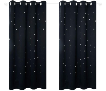 Anjee Kids Room Curtains with Laser Cutting Stars