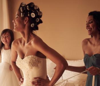 Vera Wang Laser Cut Bridal Dress