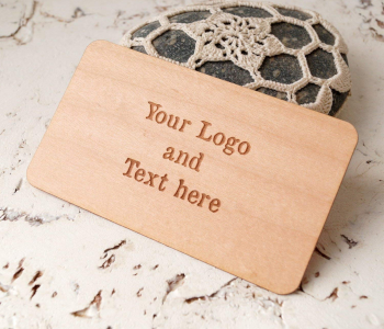 wooden veneer material for business cards