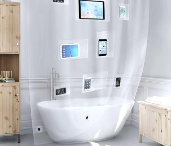 Better than Bubbles Tech-Friendly Shower Curtain