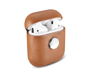 ZenPod Apple AirPods Spinning Leather Case