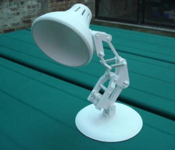 Snap-together mini desk lamp